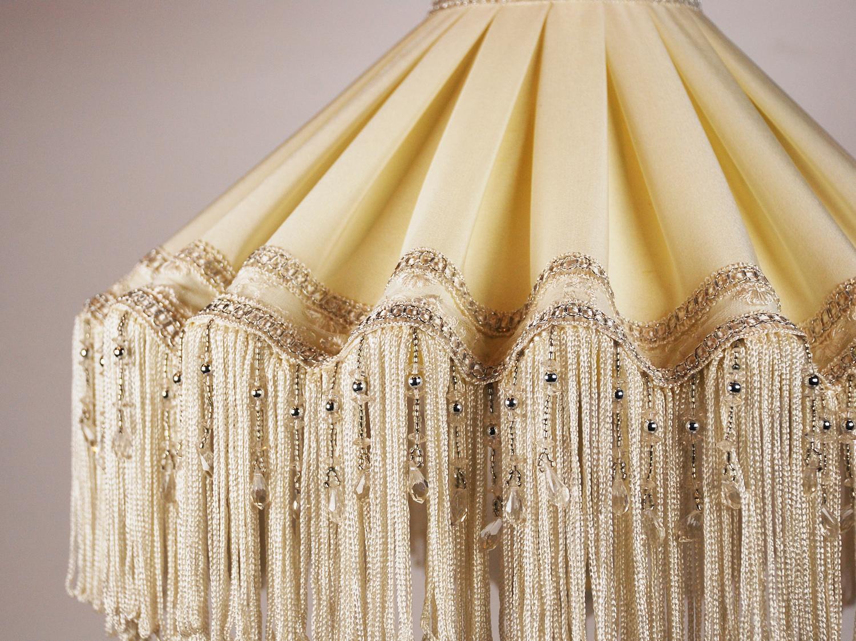 Настольная лампа с абажуром с бахромой Zandbergen Decoraties BV  - фото