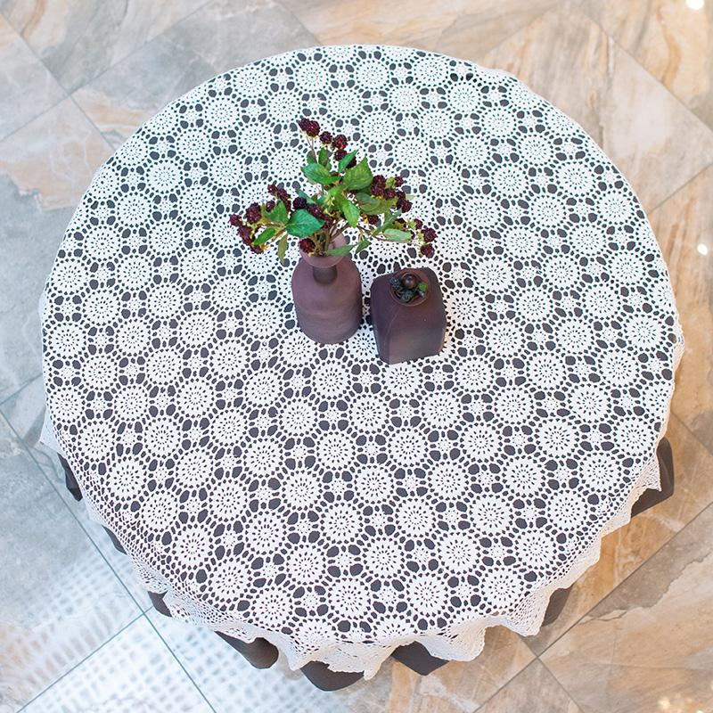 Скатерть хлопковая Villa Grazia Ажур 130×130 см   - фото
