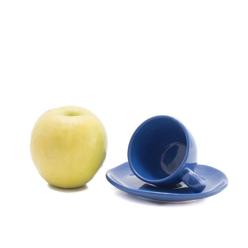 Набор чашек с блюдцами Comtesse Milano Ritmo синий 90 мл 6 шт.  - фото