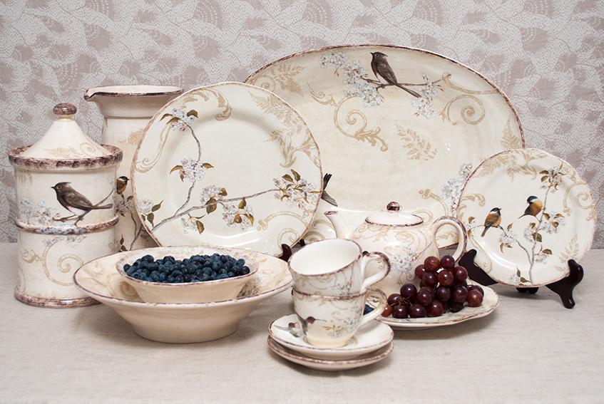 """Салатная тарелка из керамики ручной работы с изысканным рисунком """"Шопен""""  - фото"""