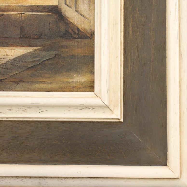"""Репродукция картины """"Окно с видом на море"""" художника Де Виленьё Фабрис  - фото"""