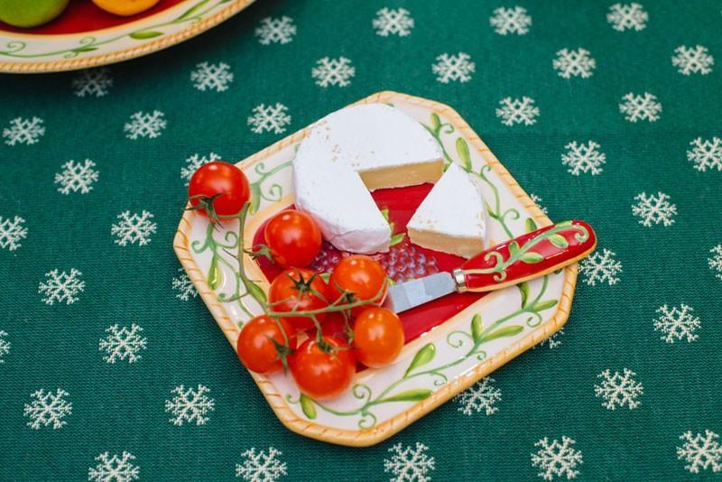 "Тарелка для сыра ""Зимняя ягода""  - фото"