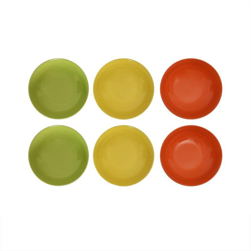 Фарфоровый сервиз на 6 персон из тарелок трех видов с ярким дизайном Samba  - фото