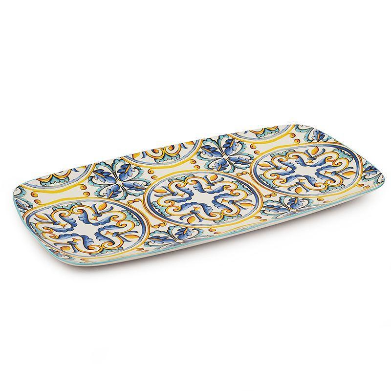 Блюдо прямоугольное керамическое с ярким рисунком Medicea  - фото