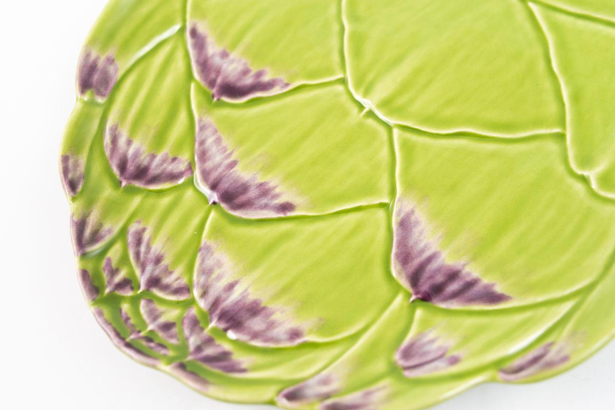 Десертная тарелка с рельефной поверхностью «Артишок»  - фото