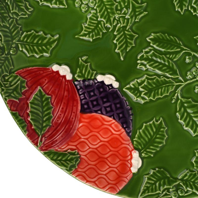 """Керамическая подставная/сервировочная тарелка """"Новогоднее чудо"""" зеленого цвета Bordallo  - фото"""