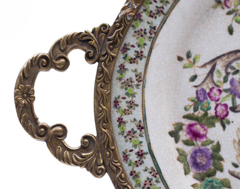 Поднос овальный Romantic rose  - фото