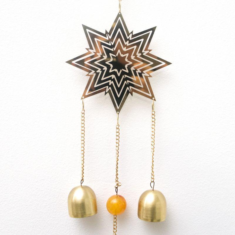 Подвесной новогодний декор звездочка   - фото