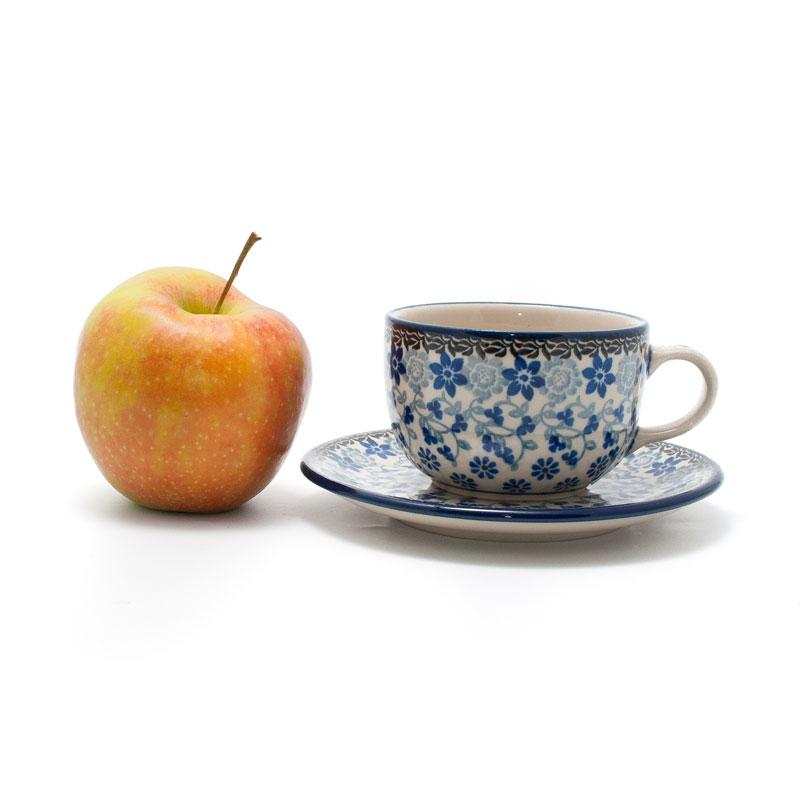 """Чашка с блюдцем """"Полевые цветы""""  - фото"""