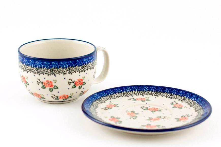 Чашки с цветами, набор 6 шт.  - фото