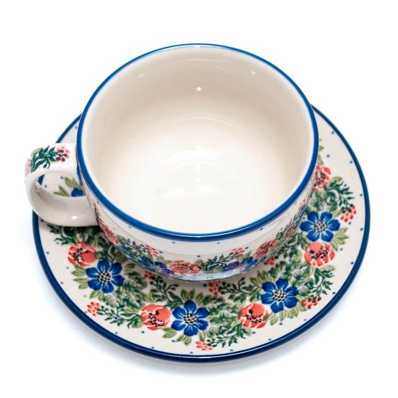 """Набор из 6-ти чайных чашек с блюдцем """"Лесной веночек""""  - фото"""