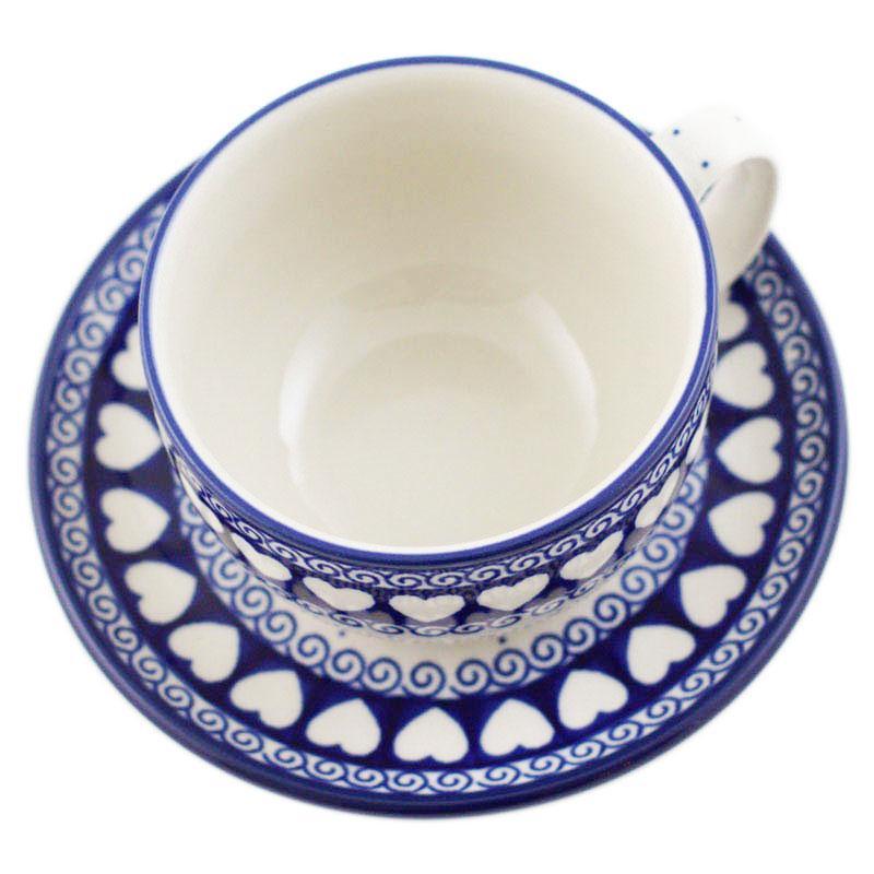 Чашка для чая с блюдцем  - фото