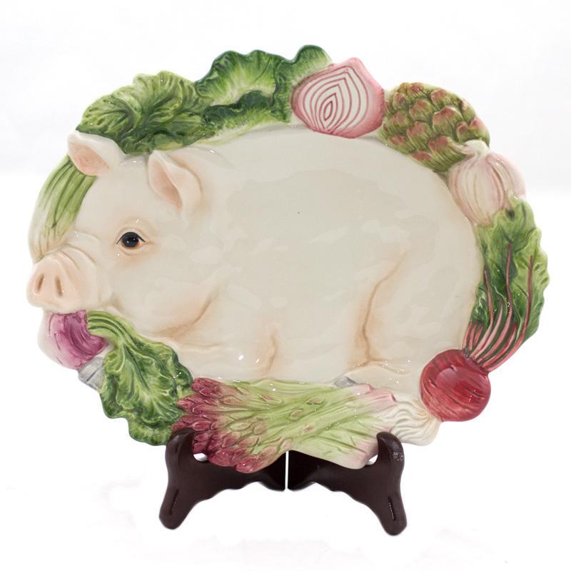 Тарелка-свинка  - фото
