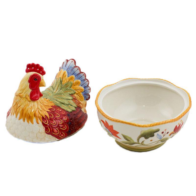 Салатник с крышкой Курица-несушка  - фото