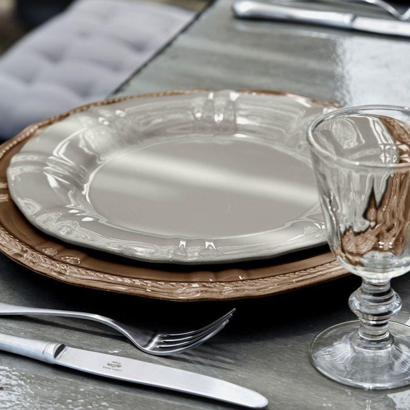 Тарелки обеденные серые, набор 6 шт. Village  - фото