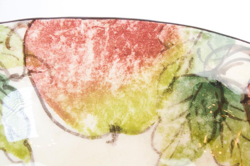Тарелка ручной росписи Bizzirri Яблоки 20 см  - фото