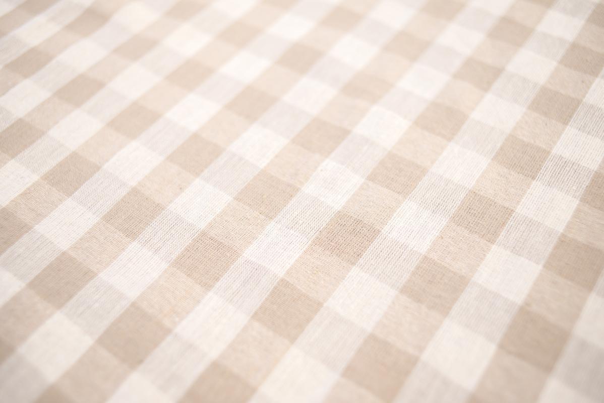 Скатерть новогодняя в клеточку Blanc  - фото