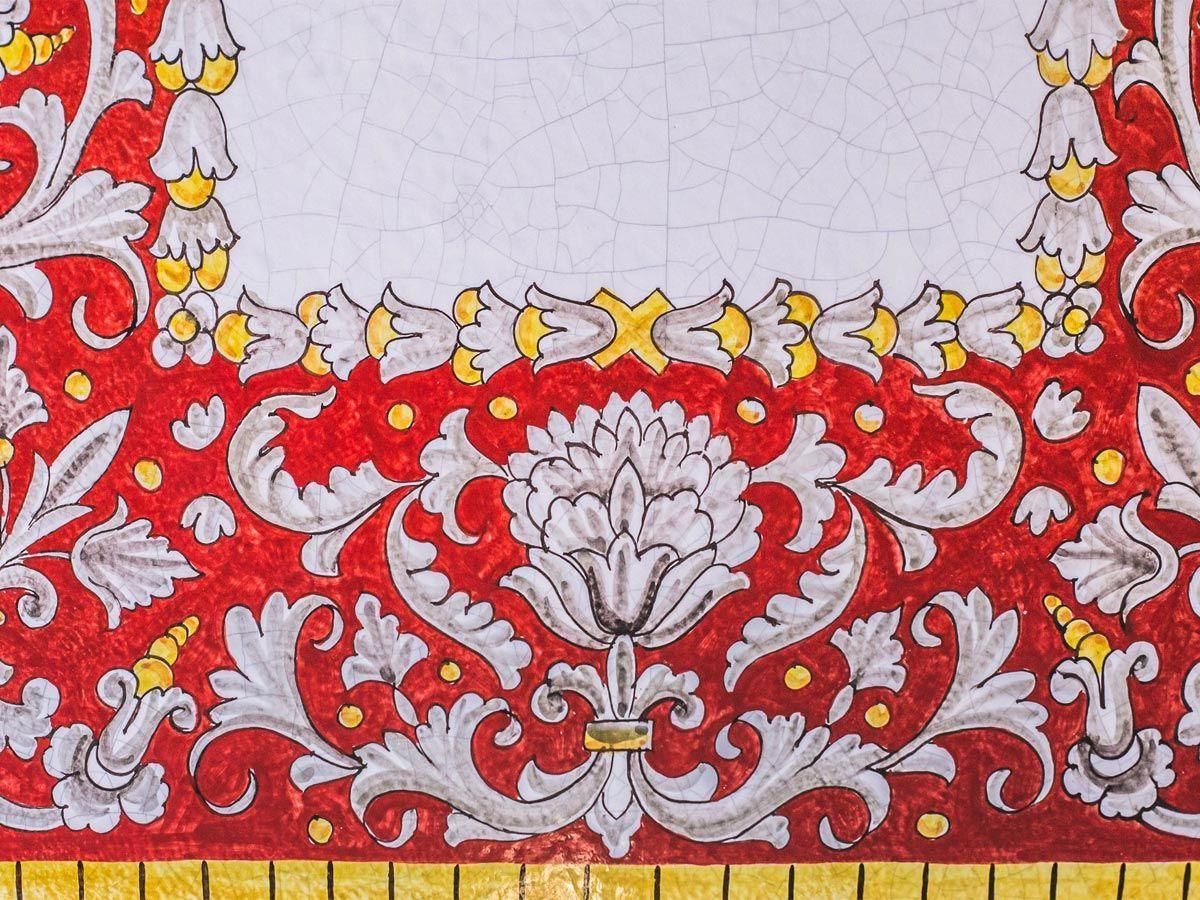 Столешница ручной росписи L´Antica Deruta   - фото
