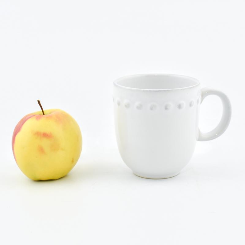 Чашка чайная белая Pearl  - фото