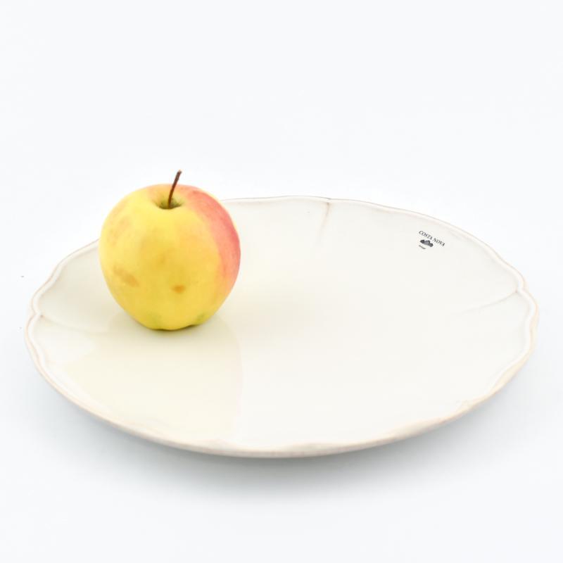 Тарелка обеденная белая из коллекции огнеупорной керамики Alentejo  - фото