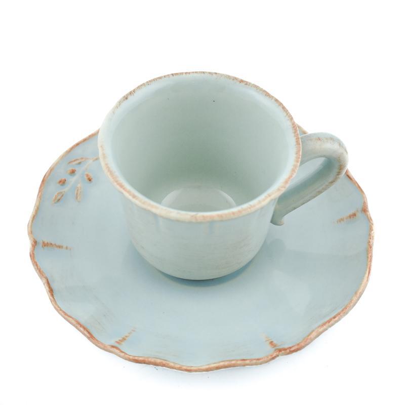 Чашки с блюдцами для кофе, набор 6 шт Alentejo  - фото
