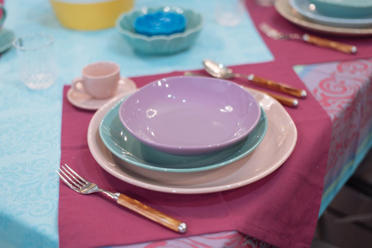 Тарелка суповая из керамики лавандового оттенка Ritmo  - фото