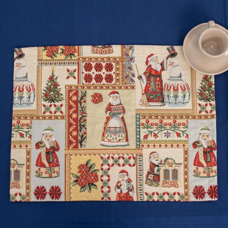 Салфетка из праздничного гобелена с люрексом «День до Рождества» Villa Grazia Premium  - фото