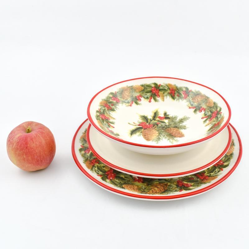 Набор тарелок для персональной праздничной сервировки «Зимний букет»  - фото