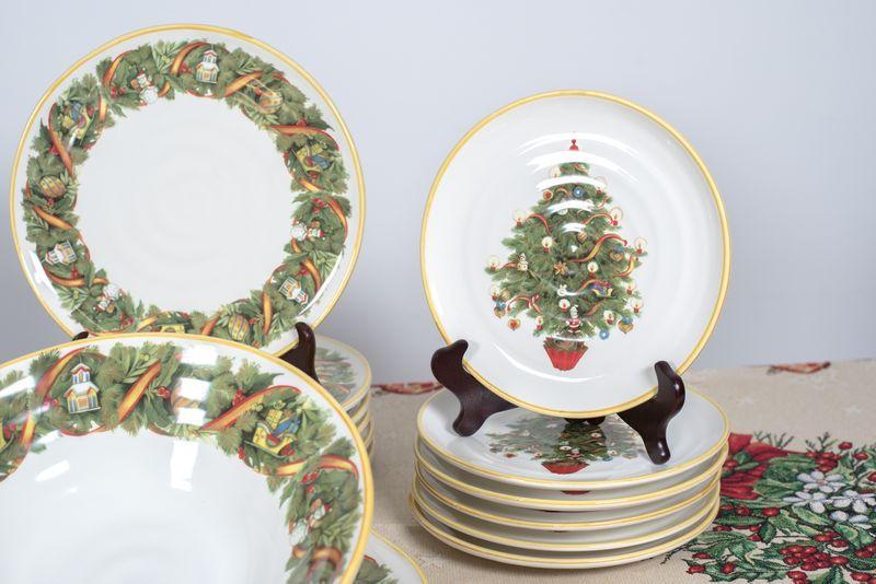 Праздничный сервиз для зимней сервировки «Яркое Рождество»  - фото