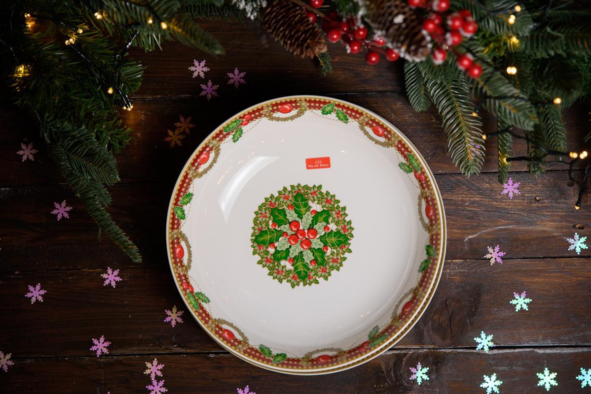 Глубокий салатник в рождественской стилистике «Исполнение желаний»  - фото