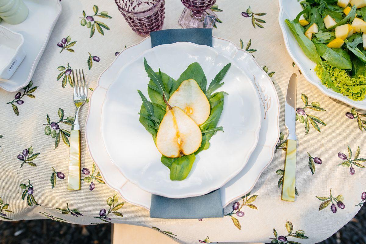 Большое белое блюдо Alentejo  - фото