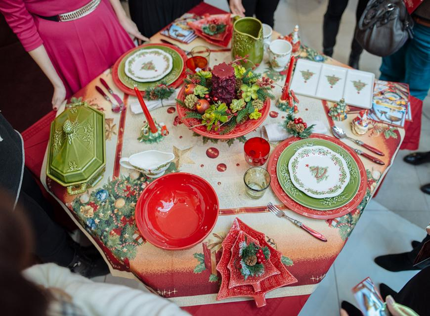 Тортовница и другая новогодняя посуда  - фото