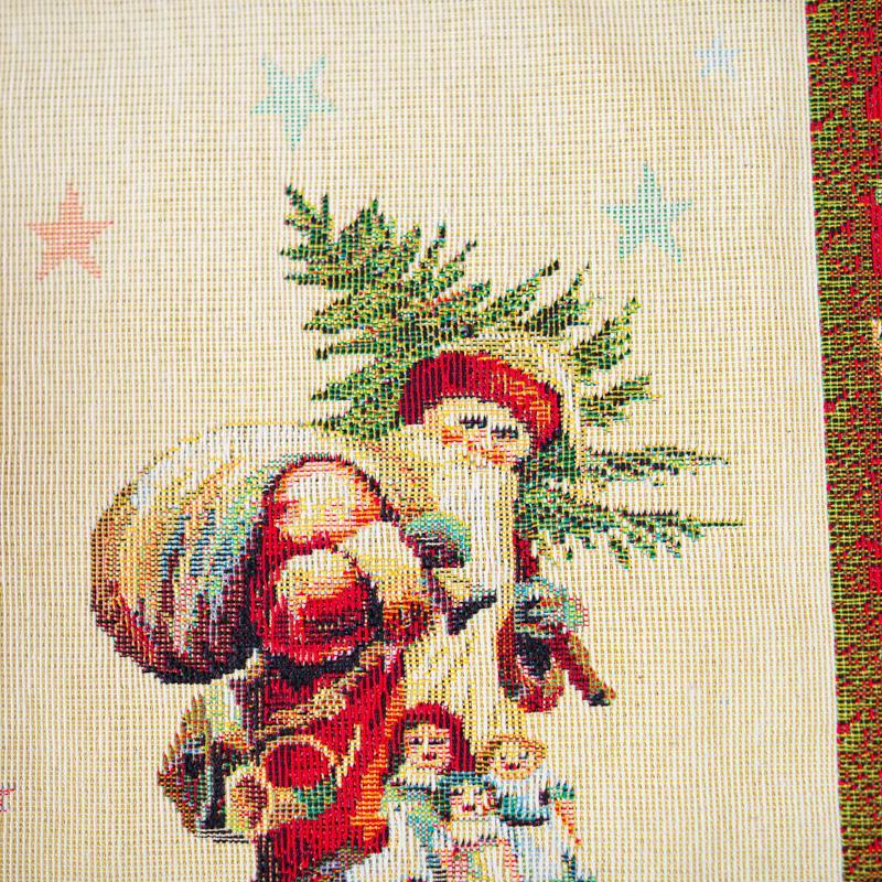 """Гобеленовая салфетка """"Новогоднее поздравление""""  - фото"""