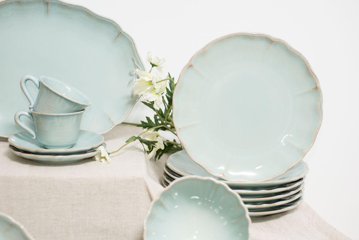 Тарелки обеденные бирюзовые, набор 6 шт. Alentejo  - фото