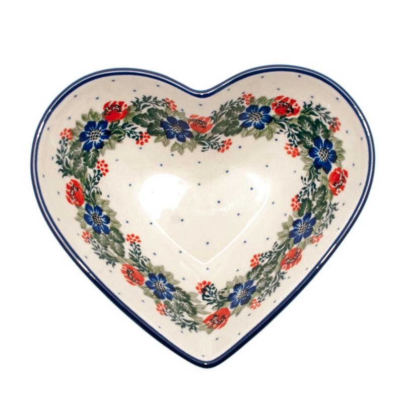 """Пиала-сердце из огнеупорной керамики """"Лесной веночек""""  - фото"""