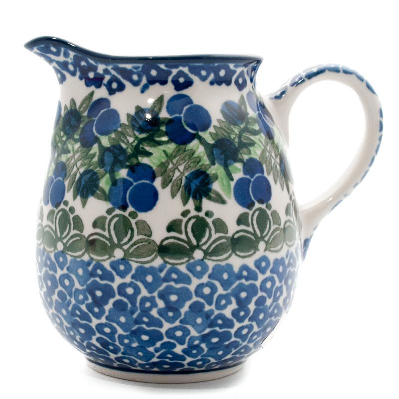 """Молочник с ручкой керамический синий """"Ягодная поляна""""  - фото"""