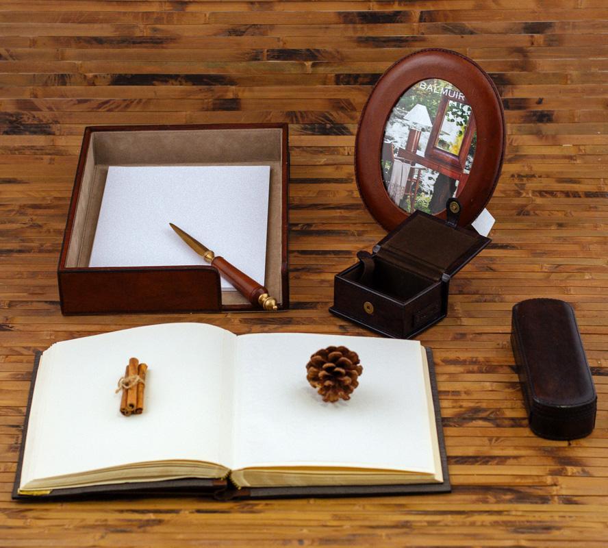 Чехол для ручек из буйволиной кожи William  - фото