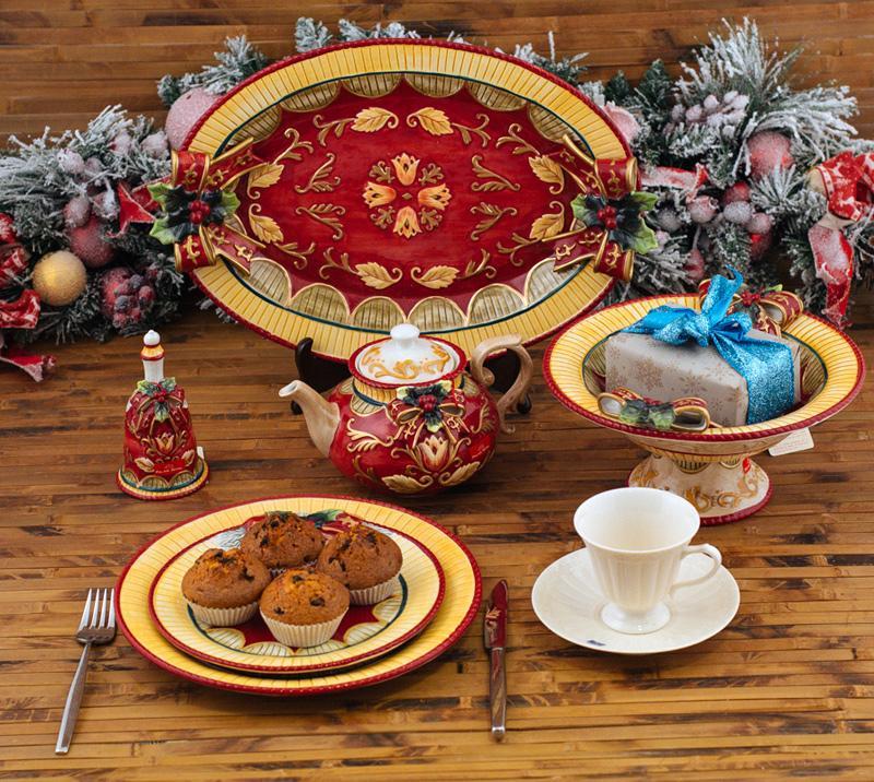 Тарелка с бантом  - фото