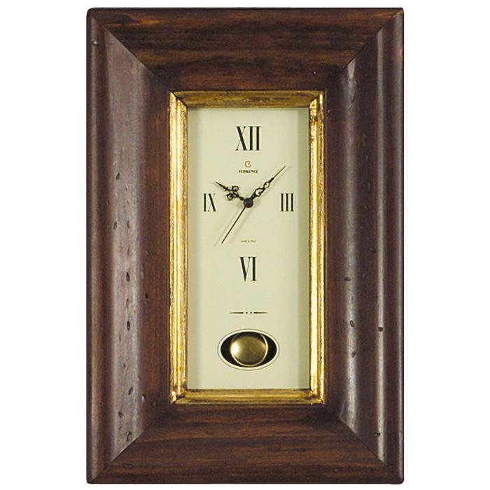 Часы с маятником в оправе из натурального дерева  - фото