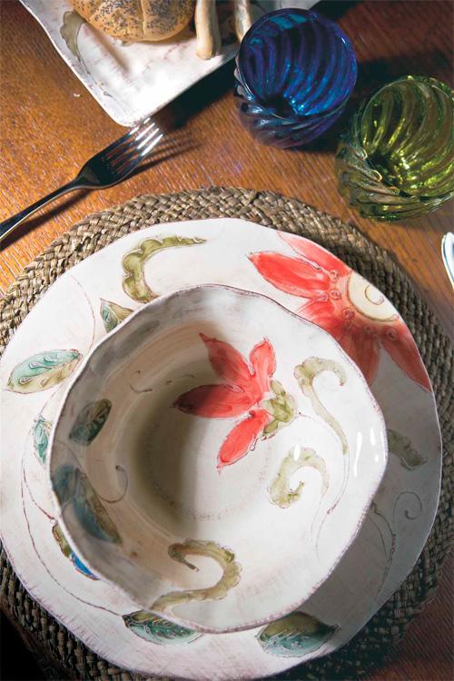 Тарелка суповая ручной росписи Portofino  - фото