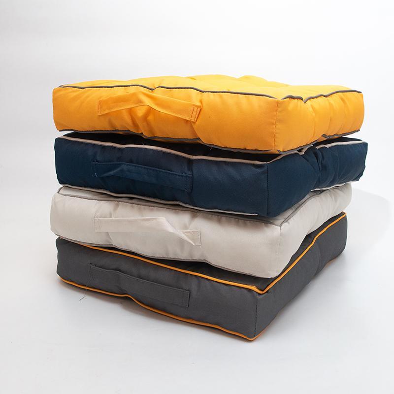 Подушка для стула Centrotex Shine синяя/слоновая кость   - фото