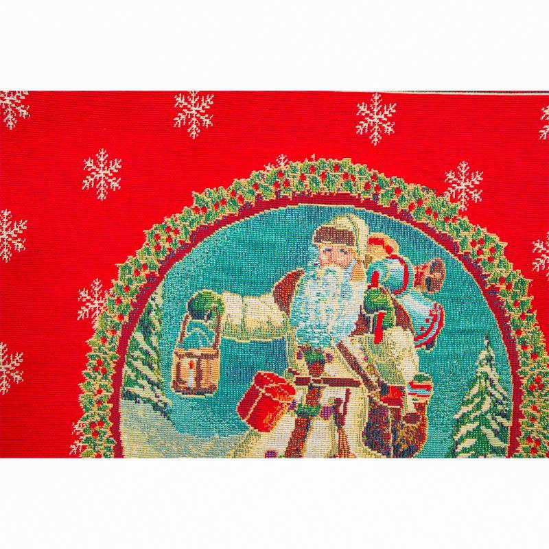 """Красная новогодняя наволочка """"Дед Мороз""""  - фото"""