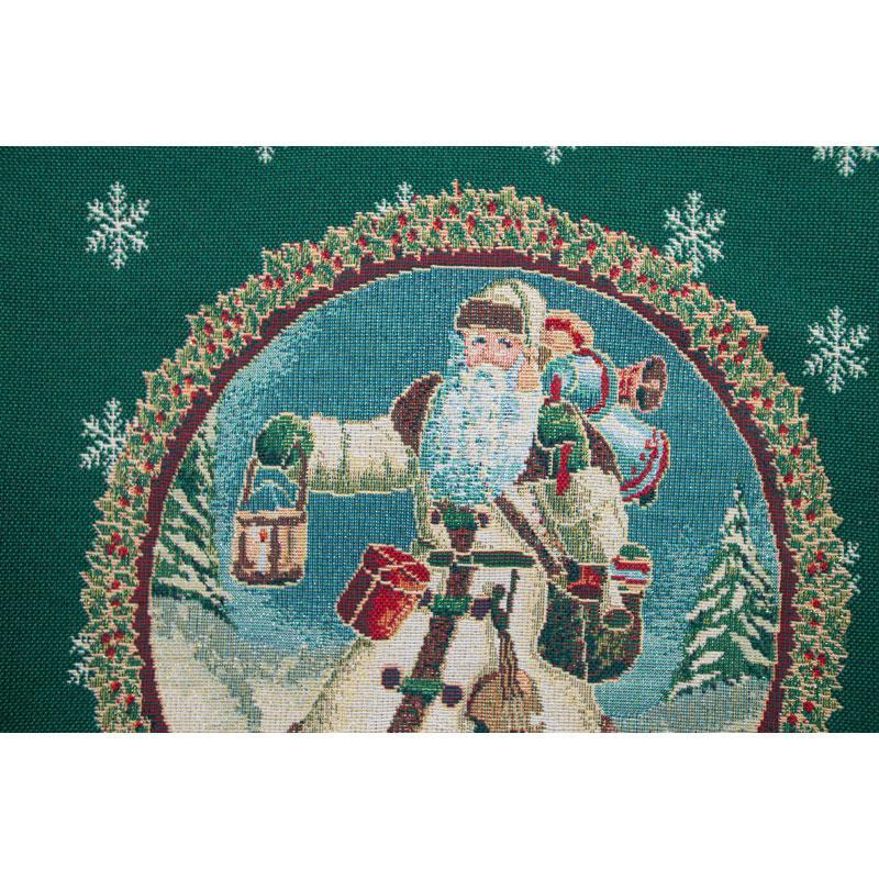 """Зеленая наволочка """"Дед Мороз""""  - фото"""