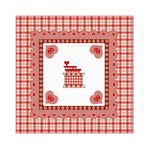 Наволочка гобеленовая для подушки на кухню с изображением кофемолки  - фото