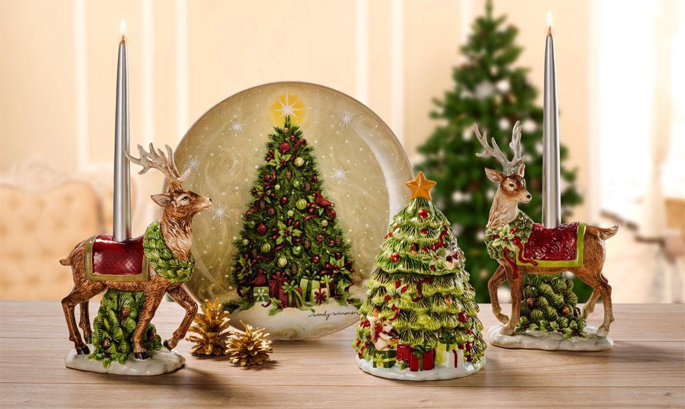 Праздничная коллекция посуды и декора «Заколдованный лес»  - фото