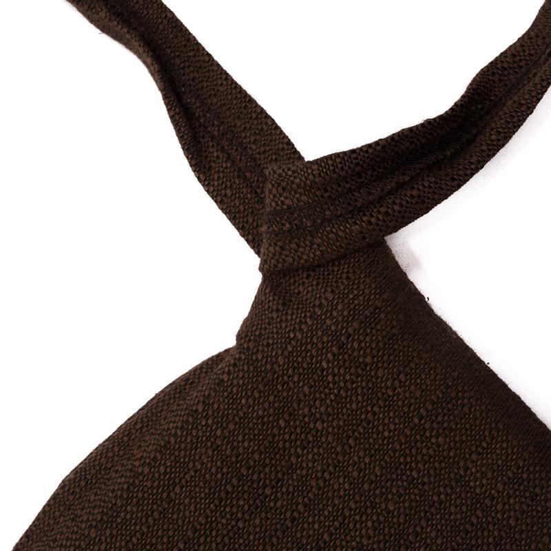 Подушка для стула коричневая  - фото