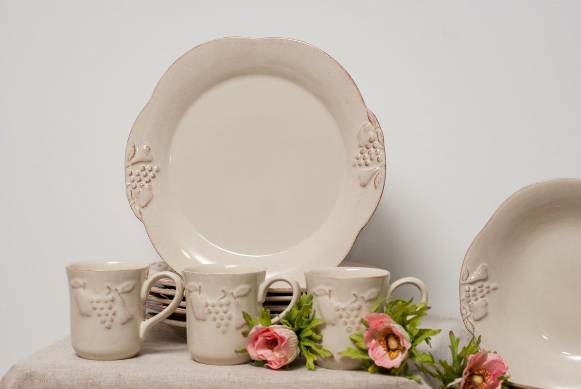 Чашка из прочной керамики бежевого цвета Mediterranea  - фото