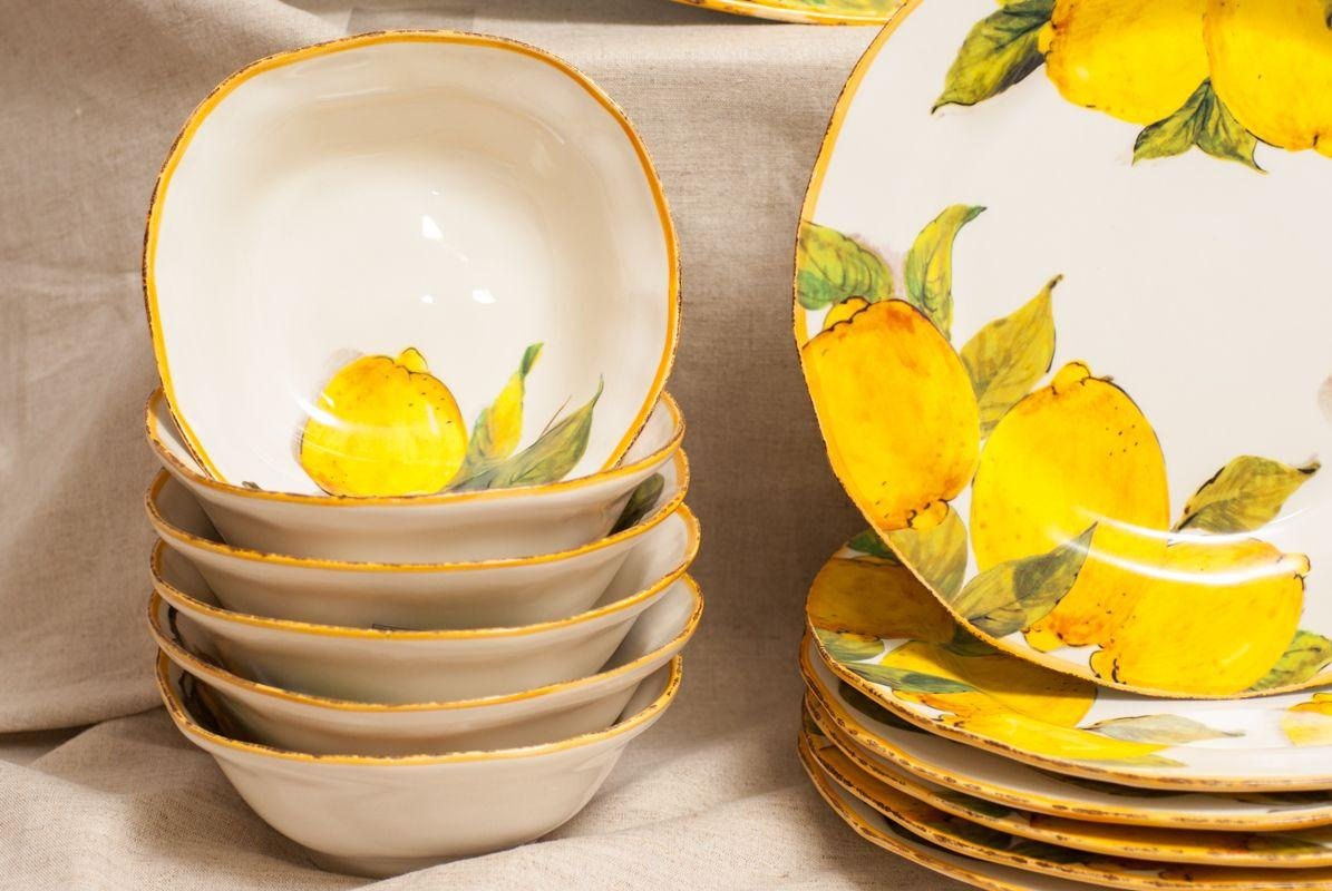 Тарелка для супа Bizzirri Лимоны 20 см  - фото