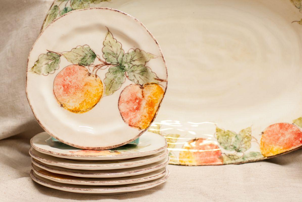 Столовый сервиз на 6 персон Персики  - фото