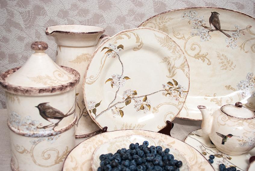 "Коллекция посуды с птичками ""Шопен""  - фото"